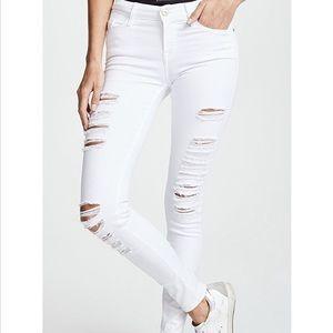 Frame Denim le skinny de Jeanne in blanc